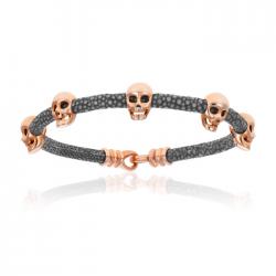 Double Bone Multi Skull Bracelet