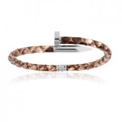 Double Bone Python Nail Bracelet