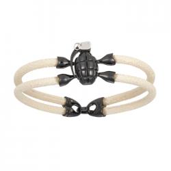 Double Bone Single Grenade Bracelet