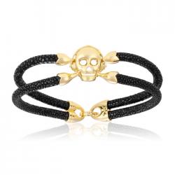 Double Bone Single Skull Bracelet