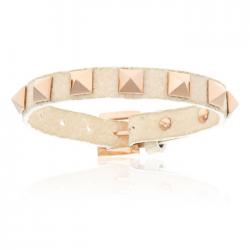 Double Bone Single Stud Bracelet