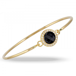 Doves Gatsby Black Onyx Bangle