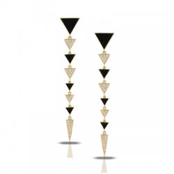 Doves Gatsby Black Onyx Earring