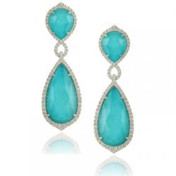 Doves St. Barths Blue Earring