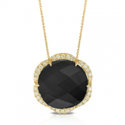 Doves Gatsby Black Onyx Necklace
