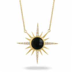 Doves Gatsby Black Onyx Necklace
