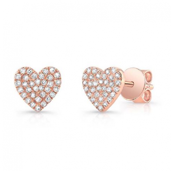 HEART PAVE DIAMOND EARRINGS
