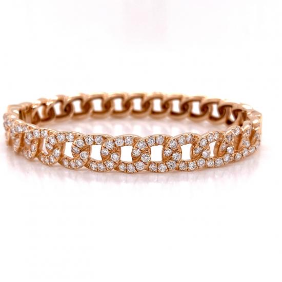 LINK DIAMOND BANGLE