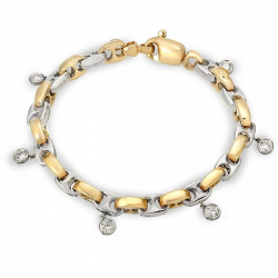 Two Tone Gold And Diamond Bracelet