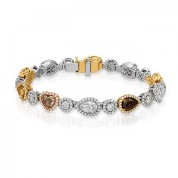 Multi Colored Diamond Bracelet