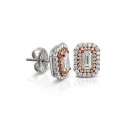 Emerald Cut Diamond Earring