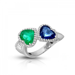 Sapphire And Emerald Diamond Ring