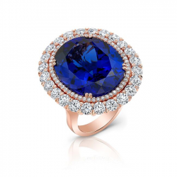 Tanzanite Diamond Ring