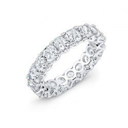 Cushion Cut Diamond Eternity Ring