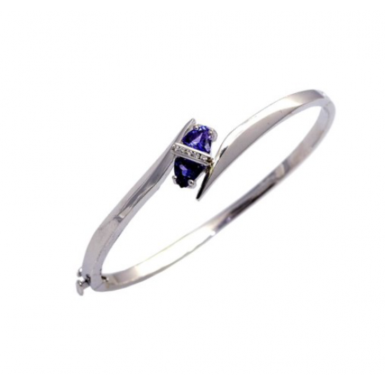 Tanzanite And Diamond Bangle