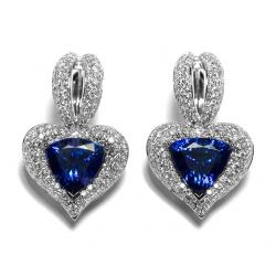 Tanzanite And Diamond Earring
