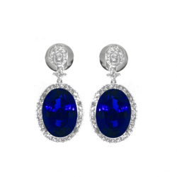 Tanzanite And Diamond Earring