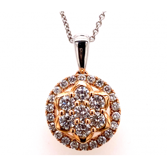 CIRCLE CLUSTER DIAMOND PENDANT