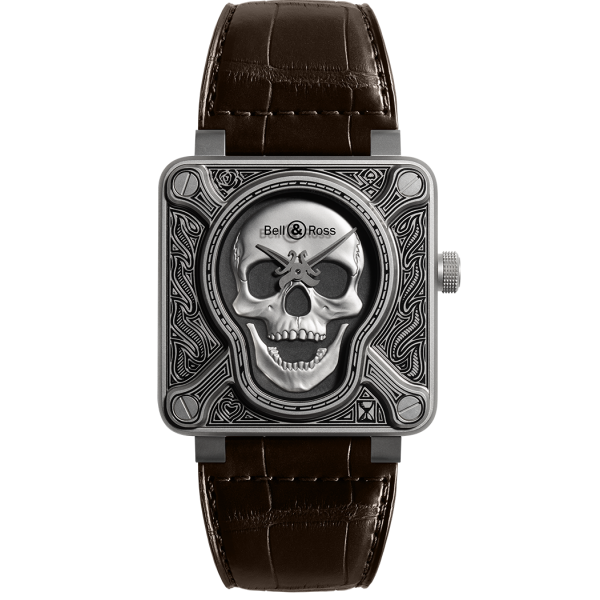 Bell and Ross Aviation Black BR0192 Skull-Burn Limited Edition