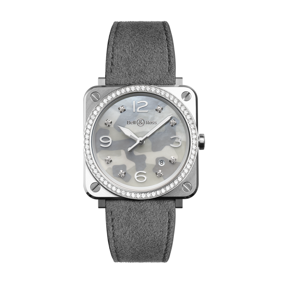 Bell and Ross BR S Grey Camouflage Diamonds