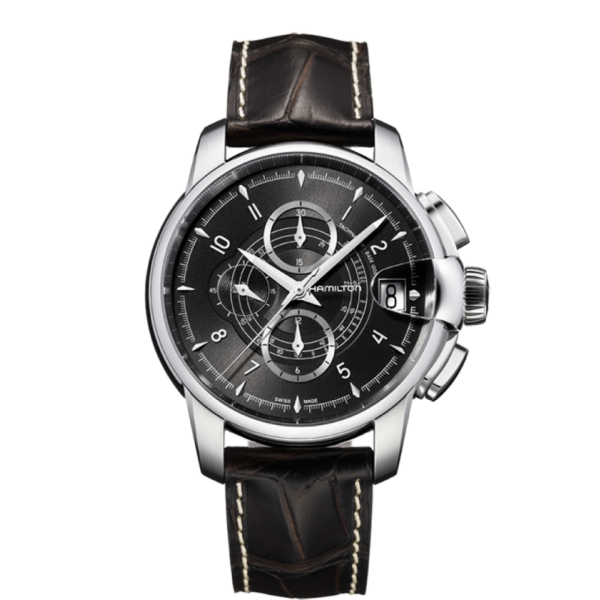 Hamilton Timeless Classic Railroad Black Dial Automatic Chronograph Watch