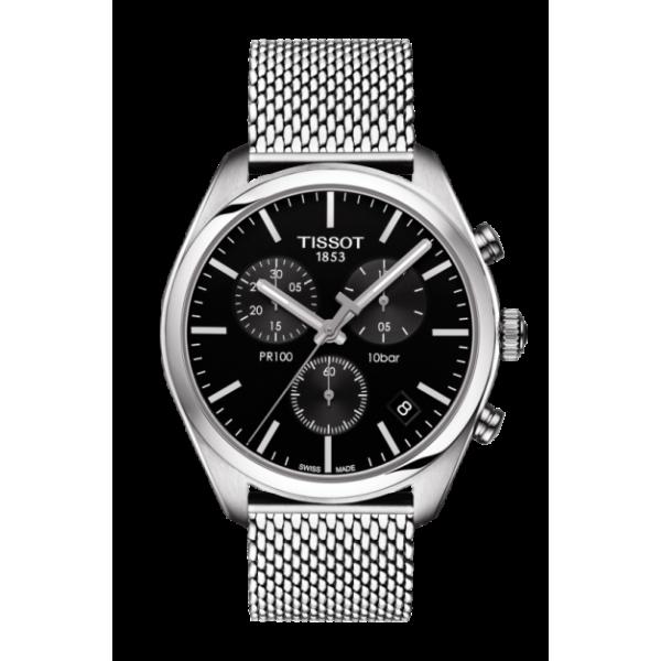 Tissot PR100 Chronograph Black Dial Watch